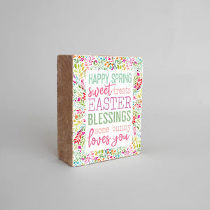 Rustic Block - Spring Blessings