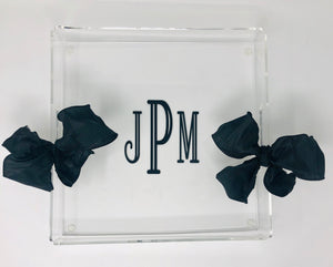 Personalized 12 x 12 square acrylic tray