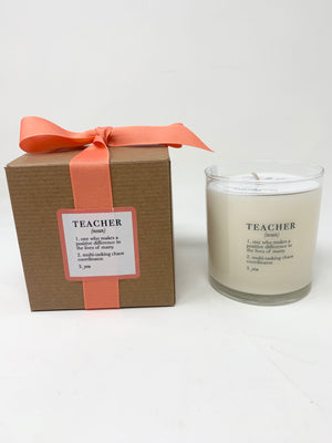11oz Teacher Definition candle