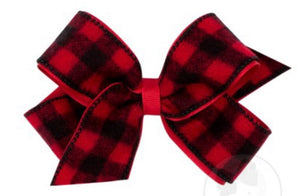 Buffalo Check Overlay Bow