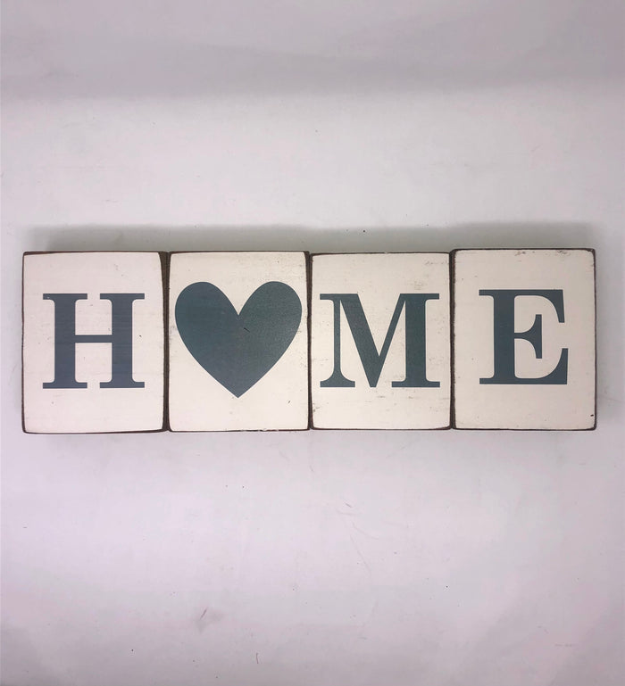 Rustic Blocks- Home Bundle- Ocean Grey