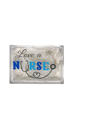 Love A Nurse Acrylic Jewelry Box