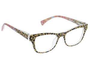Peepers Reading Glasses - Orchid Island - Tan/Leopard Floral