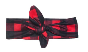 Buffalo Plaid Knotted Headband
