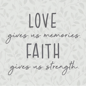 RUSTIC SQUARE BLOCK - LOVE, FAITH