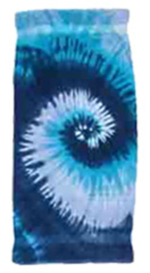 Personalized Blue Tie Dye Beach Towel