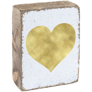 GOLD HEART - BLOCK