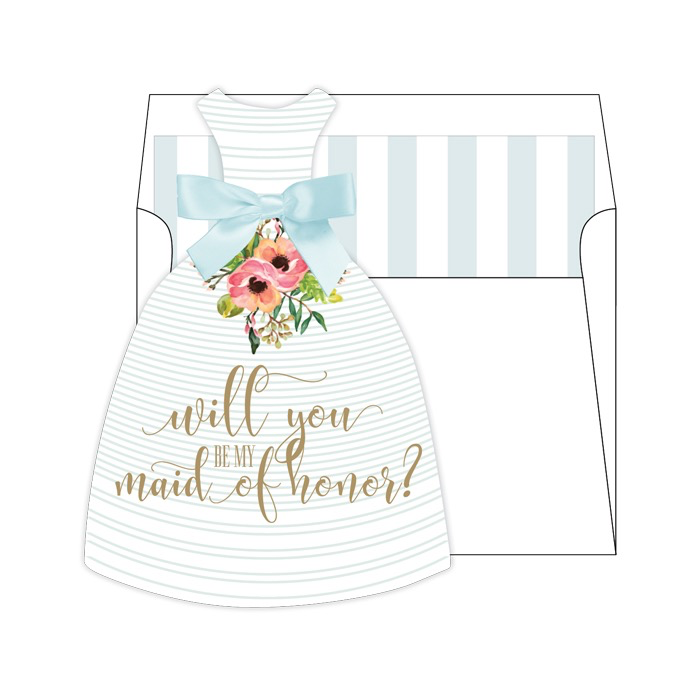Will You Be My Maid of Honor-Tiffany Die Cut Stationary