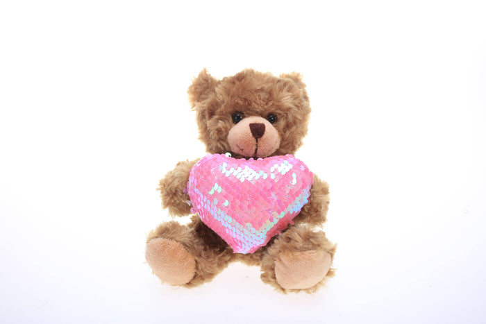 Valentine sequin heart bear