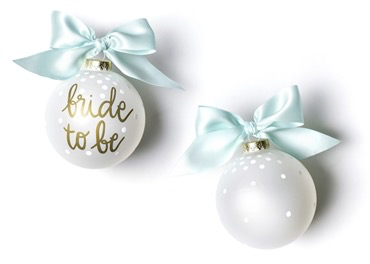 BRIDE TO BE GLASS ORNAMENT