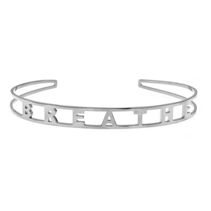 EMPOWERED CUFF BRACELET IN WHITE - BREATHE