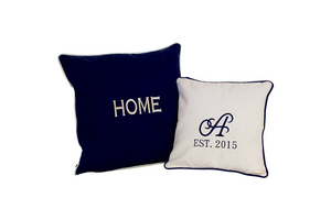Monogrammed Canvas Pillow