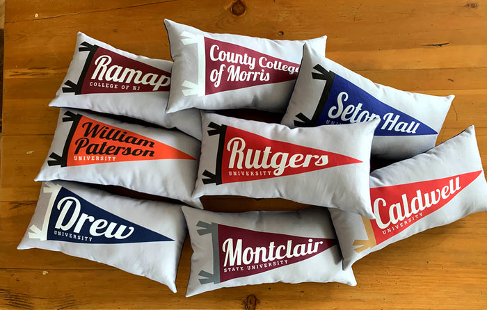 University Pennant Pillows, Be True To Your School