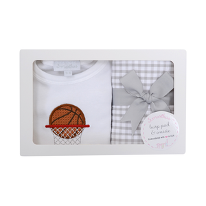 Basketball Onesie/ Burp Box Set