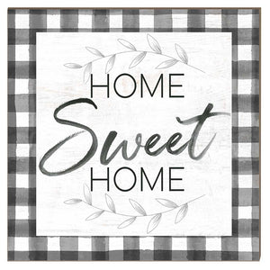 Home Sweet Home Buffalo Check Sign