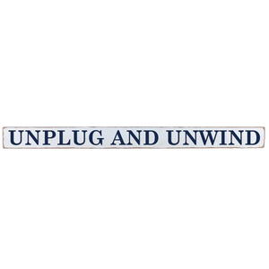 Unplug + Unwind Barn Board