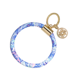 LILLY PULITZER ROUND KEYCHAIN,SHADE SEEKERS