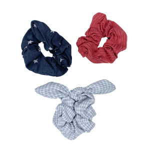 Stars & Stripes Scrunchie Set Of 3