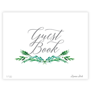 WEDDING GREENERY GUEST BOOK