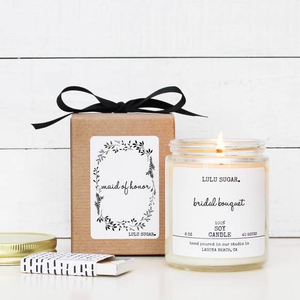 8 OZ MAID OF HONOR SOY CANDLE - WEDDING CAKE
