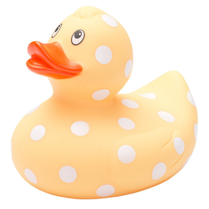 Yellow Polka Dot Bath Duck