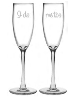 I Do Me Too Champagne Flute Set of 2