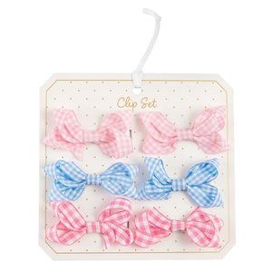 GINGHAM BITTY BOWS