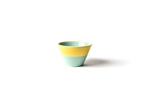 HELLO HAPPY COLOR BLOCK APPETIZER BOWL MINT