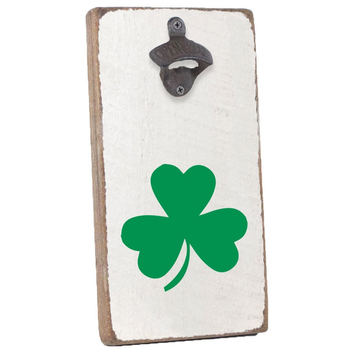 Rustic Bottle Opener- Shamrock