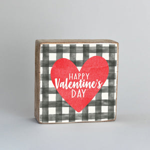 Rustic Block - Happy Valentine's Day