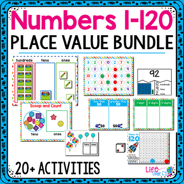 Numbers 1-120 Place Value | 1st Grade Math Centers