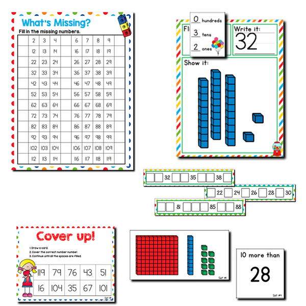 1st Grade Math Centers Bundle | Year Long Math Centers