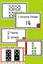 These 10 Card games for numbers 0-20 are such a fun way to review numbers!! I can think of so many ways (beyond the 10 games included) to use these cards!! Love the Christmas theme!
