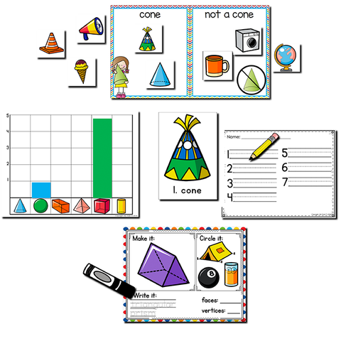 3D Shape Pack | Kindergarten Math