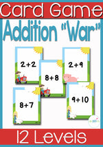 This Addition Facts War Card Game is a great way to learn addition facts! Your kids will have all their facts memorized in no time at all! Best of all it's fun!
