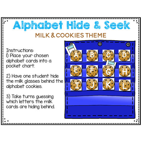 Alphabet Hide & Seek Pocket Chart Cards | ENDLESS Bundle