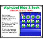 Alphabet Hide & Seek Pocket Chart Cards | Christmas Tree Theme