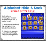 Alphabet Hide & Seek Pocket Chart Cards | Peanut Butter and Jelly