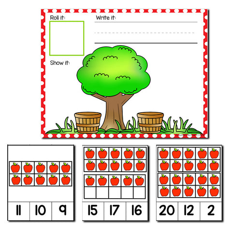 Apple Theme Numbers 1-20 Counting Activities | Counting to 20 | Math Centers