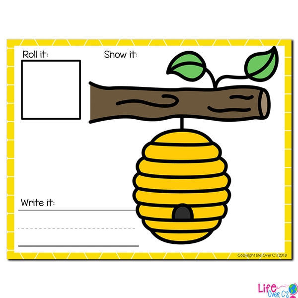 Beehive Theme Numbers 1-20 Counting Activities | Counting to 20 | Math Centers