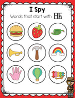 Preschoolers will love working beginning sounds with these low-prep beginning sounds I Spy printables. #literacycenters #alphabet #lifeovercs