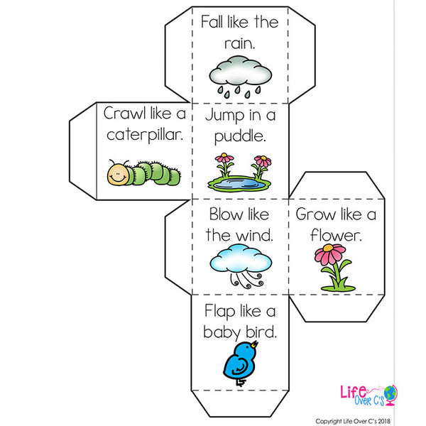 Brain Break Cube | Spring Theme