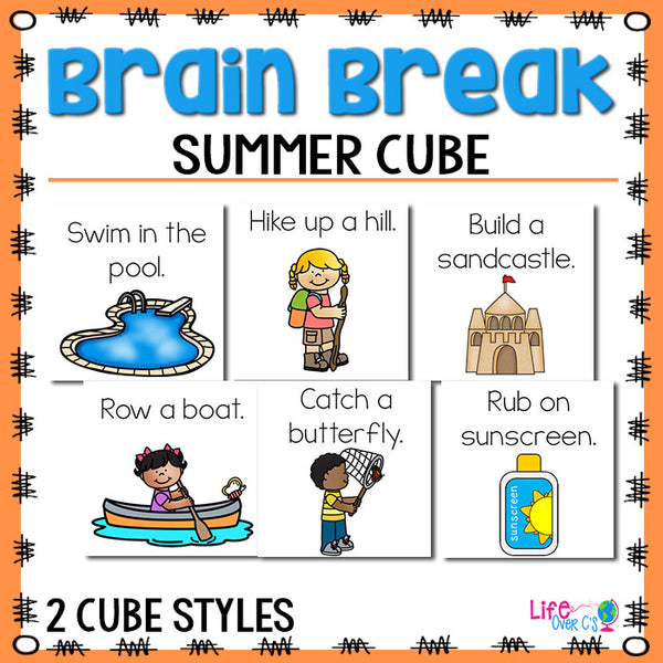 Brain Break Cube | Summer Theme