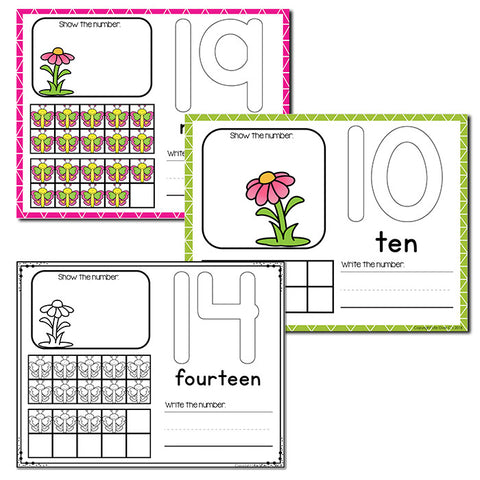 Butterfly Theme Numbers 1-20 Counting Activities | Counting to 20 | Math Centers