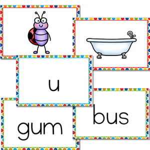 Short Vowel Card Game | CVC Words | Literacy Centers
