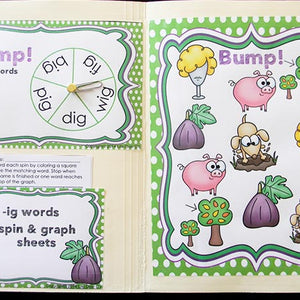20 CVC Bump games! One for each of the CVC word families! Perfect for beginning readers!
