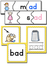 10 activities for learning the ad word family! Puzzles, dice, mini-books, tracing, coloring and more!