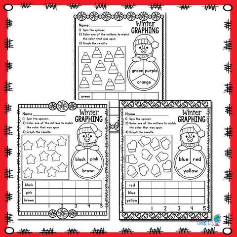 Winter Color Graphing Set