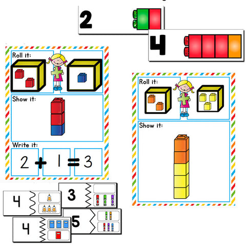 Pre-k/Preschool Math Growing BUNDLE | Year Long Differentiated Math