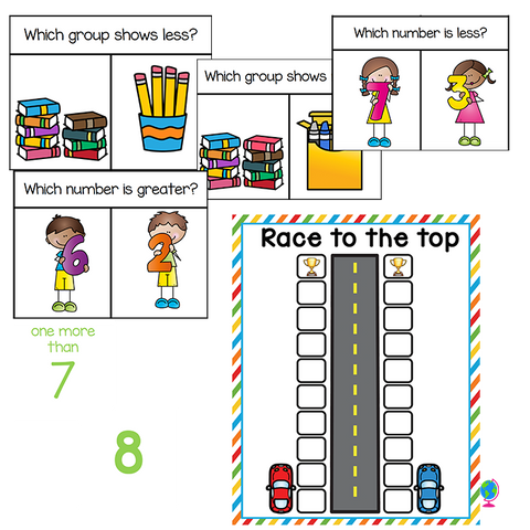 Comparing Numbers | Kindergarten Math Centers